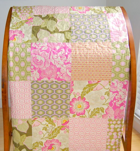 Big Block Quilt In Amy Butler Midwest Modern Golden Gate Quilts